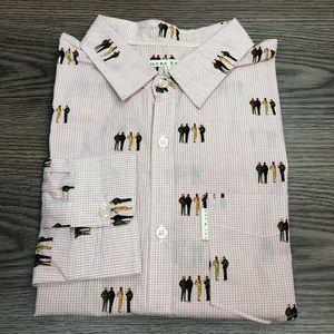 Marc Ecko White & Red Check Dapper Guy Shirt L